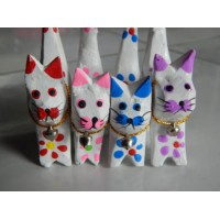 Benda Pajangan Kucing Set Of 4