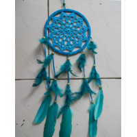 Dreamcatcher 17 cm warna biru