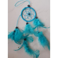 Dreamcatcher warna biru cerah
