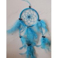 Dreamcatcher 9 cm warna biru cerah