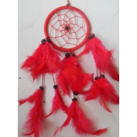 Dreamcatcher 9 cm warna merah cerah