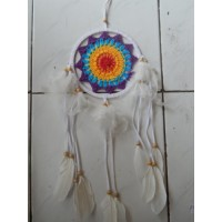 Dream Catcher Rajut Warna Ungu