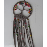 Dream catcher kain warna abu