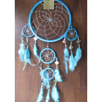 Dream catcher warna biru motif jaring laba laba