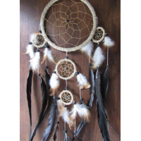 Dream catcher warna coklat hitam