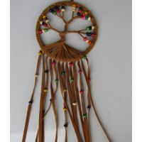 Dream catcher kain warna coklat