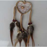 Dream catcher motif jantung warna coklat