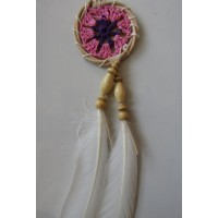 Dream catcher kecil motif simpel warna ping