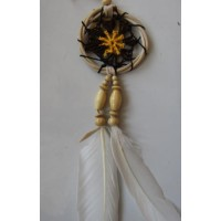 Dream catcher kecil motif simpel warna coklat