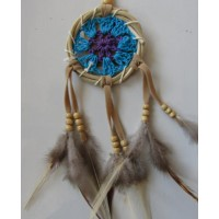 Dream catcher kecil motif simpel warna biru