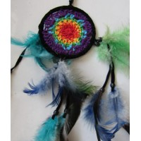 Dream catcher kecil motif simpel warna warni