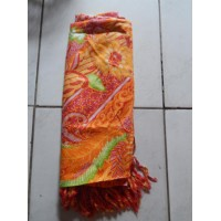 Kain Pantai Batik Daun Warna Orange