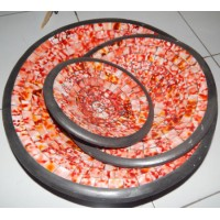 Mosaic bulat warna orange