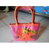 Tas Jinjing Pink Motif Hello Kitty