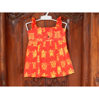 Dress Cotton Anak Motif Kura -Kura