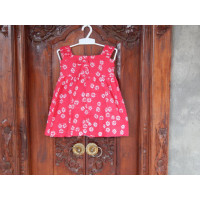 Dress Cotton Anak Motif Bunga Warna Pink