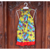 Dress Anak Motif Bunga Warna Kuning
