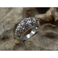 Flower Carving Silver ring Frangipani