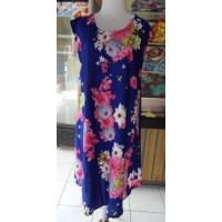 Dress Payung Motif Bunga Warna Ungu