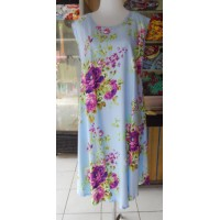 Dress Payung Motif Bunga Warna Biru Muda